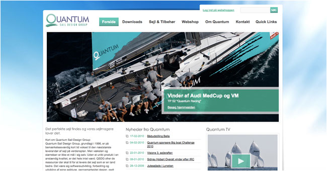 REWORKS website for Quantum Sails Danmark